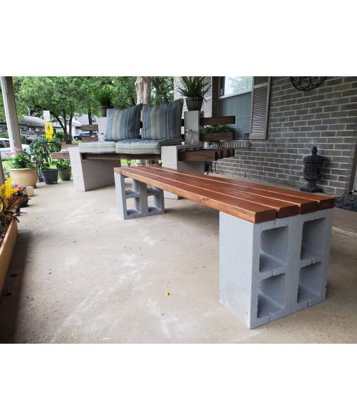Cinder Block Bench - 8'