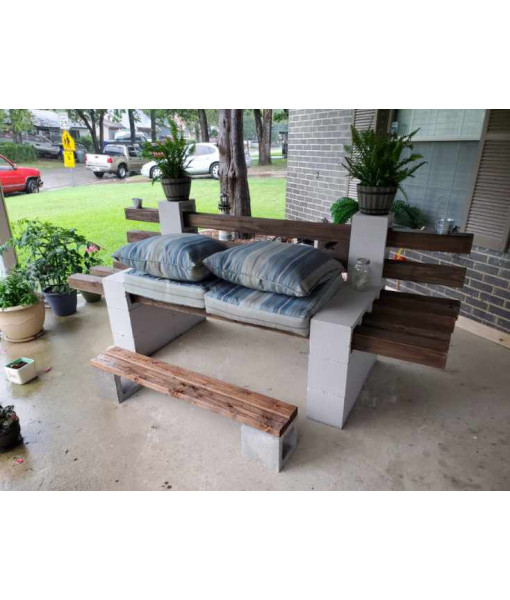 Cinder Block Couch (Large)