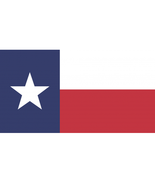 Handcrafted Wooden Texas Flag