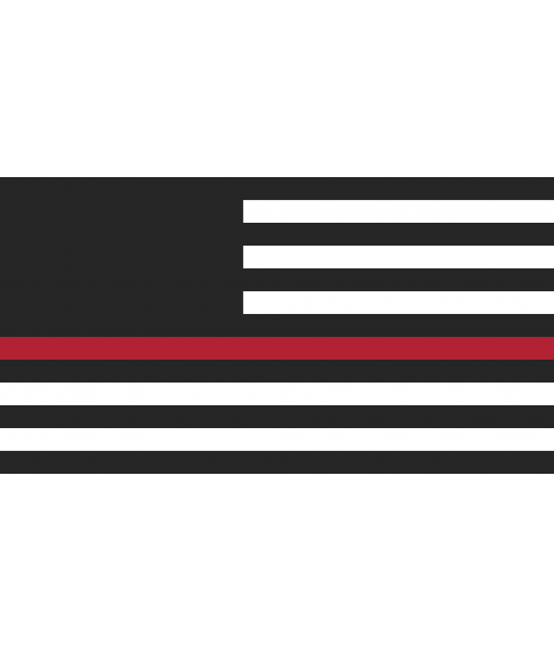 Handcrafted Wooden 'First Responders' Flag